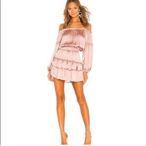 Misa Los Angeles Romi off shoulder dress small